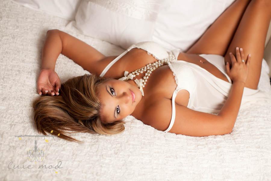 sweet and sassy boudoir portait