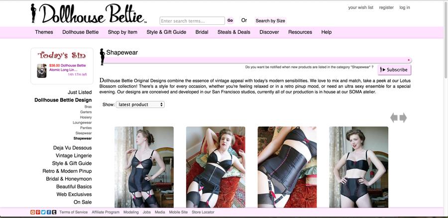 Dollhouse Bettie-Boudoir Lingerie