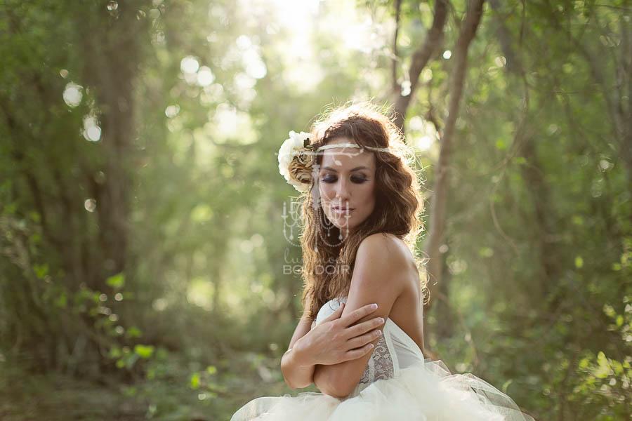 backlight glamour portrait