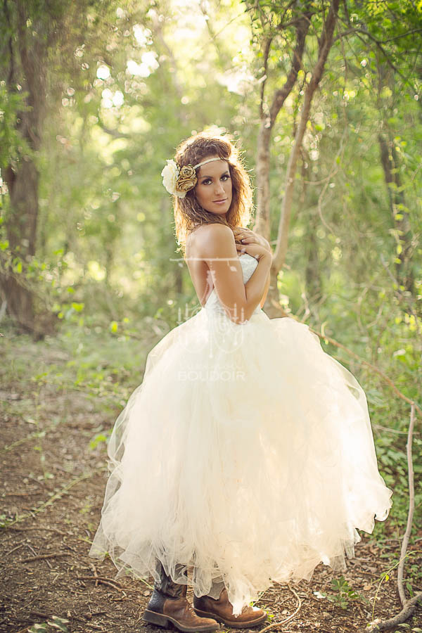 backlight glamour portrait with vintage tulle skirt and bustier