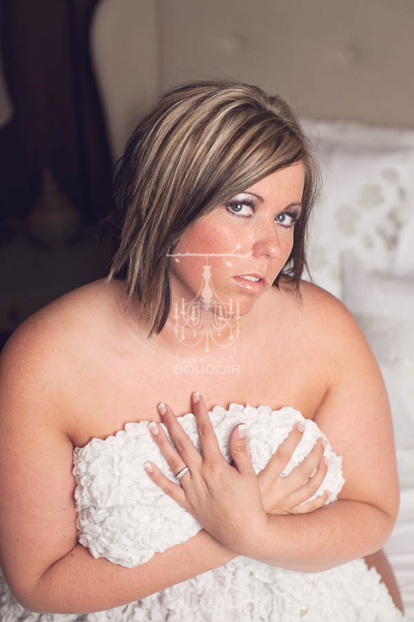 plus size boudoir implied nude portrait