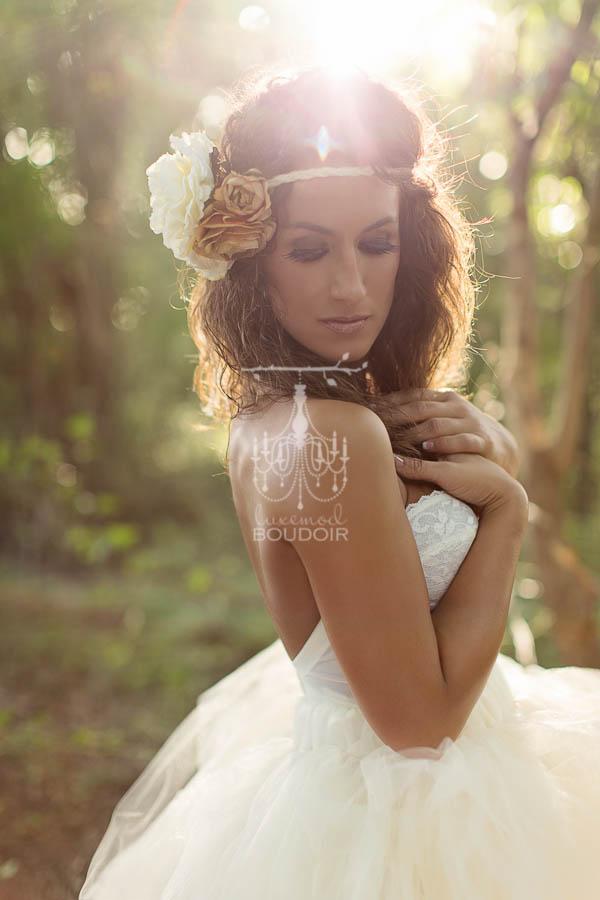 sunflare glamour portrait