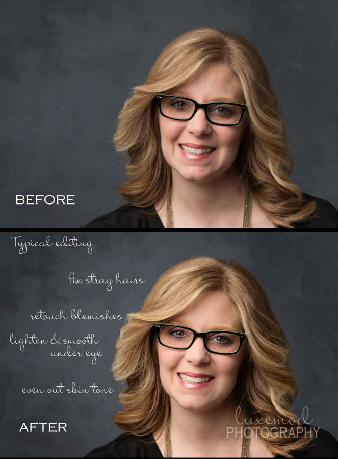 tulsa headshot portrait before and after