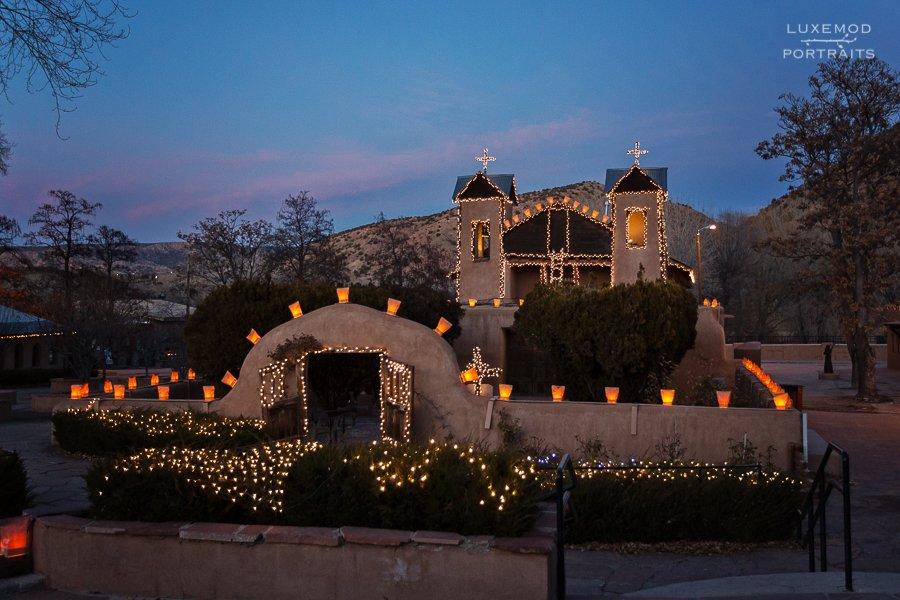 lighted chimayo santuario