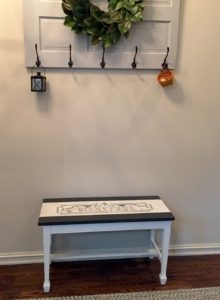 vintage piano bench makeover