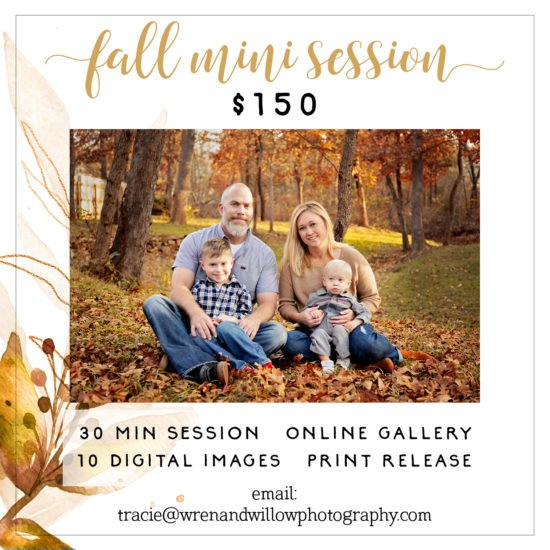 fall mini sessions broken arrow