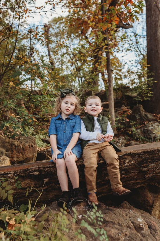 cute siblings photo session