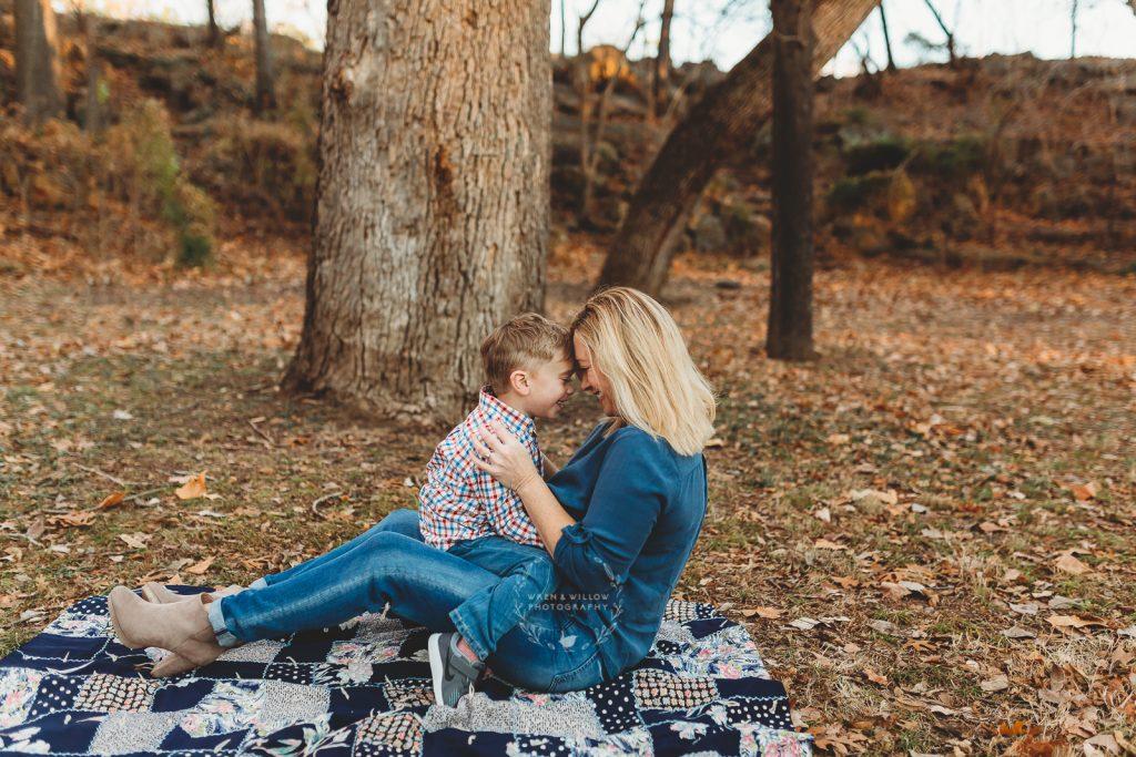 eskimo kisses mom and boy
