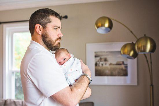 dad son lifestyle newborn photo