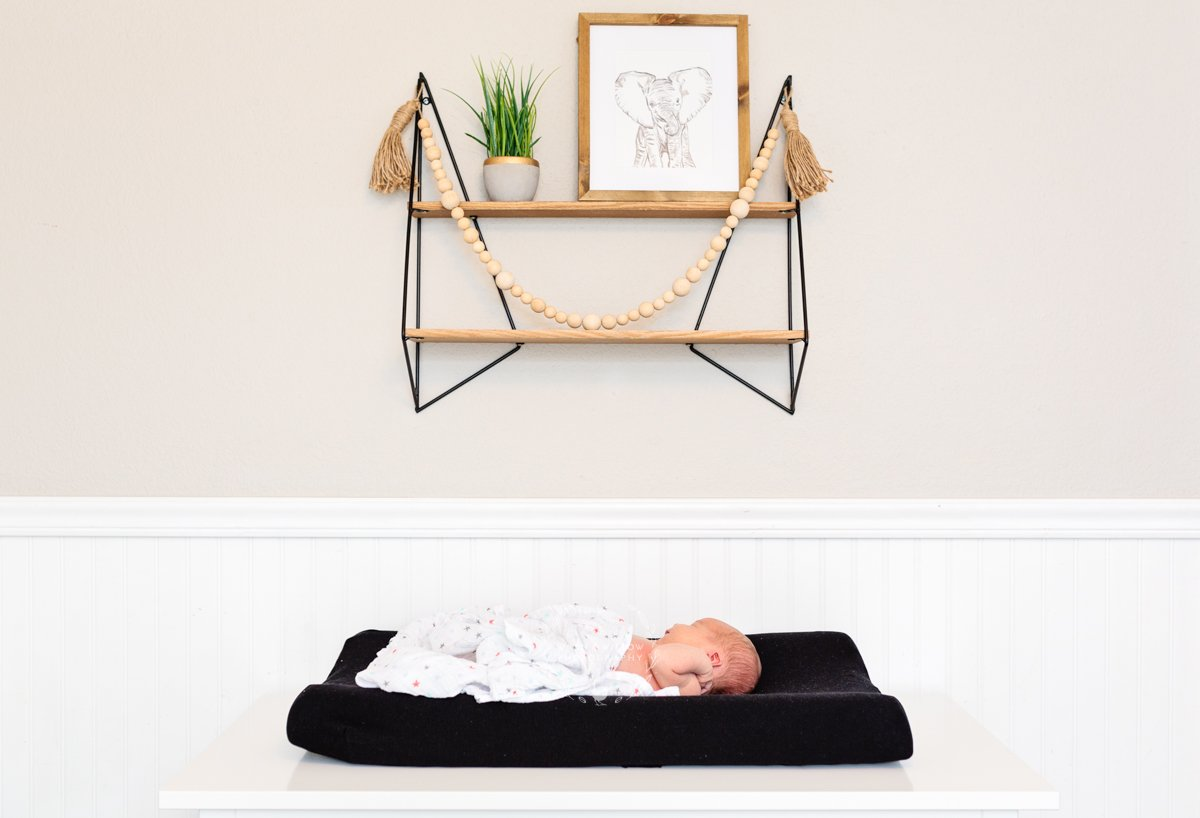 baby nursery lifestyle newborn session