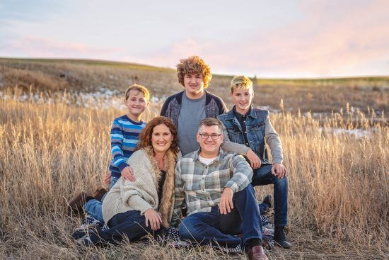 mountain sunset lifestyle family photo session Erie, CO